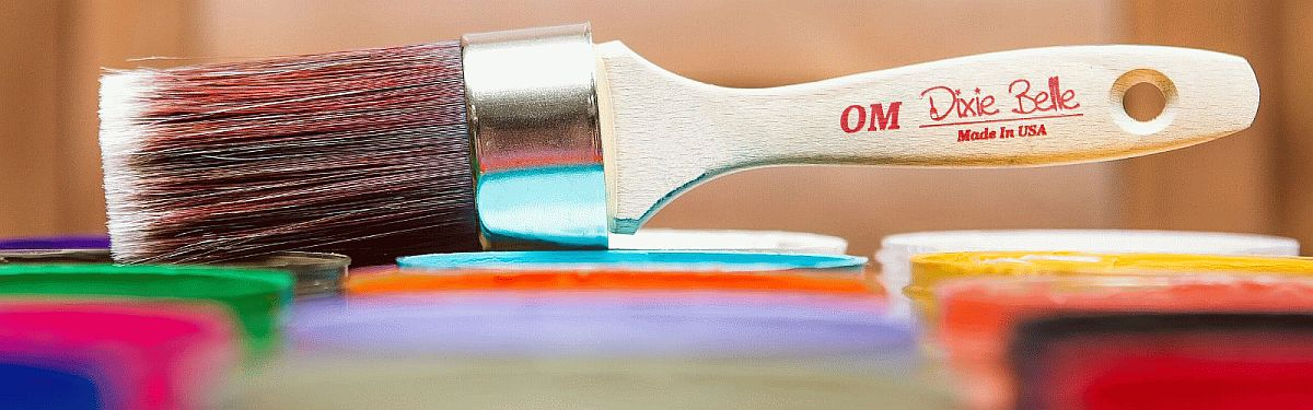 a Dixie Belle Paint brand Oval Paintbrush